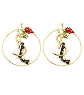 Gun & Rose Hoop Earrings