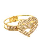 Heart Crystal Bling Bracelet