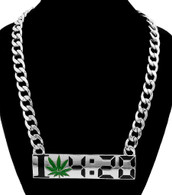 I Love Marijuana 4-20 Necklace