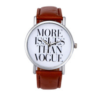 More Issues Than Vogue Watch-Brown/Tan