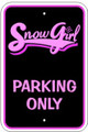 SnowGirl Parking Sign
