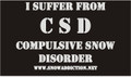 SA - LS TEE- CSD - Compulsive Snowmobile Disorder
