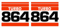 864 Decal Sticker Kit for Bobcat® Skid Steer AK- 6717233