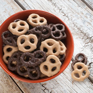 Sweet Peanut Butter & Dark Chocolate Pretzels - 2.8oz