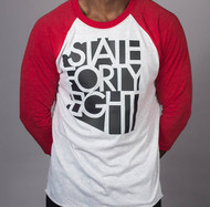 State Forty Eight - Red & Black Baseball, Unisex