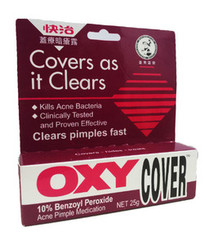 OXY 10 Covers As It Clear - 10% benzoyl peroxide Ance Pimple Medication (25g)