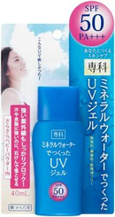 JAPAN Hada-Senka Mineral Water UV Sunscreen Gel SPF50 PA+++ (40ml)