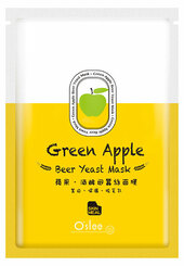 O'slee Green Apple Beer Yeast Silk Mask (4 sheets)