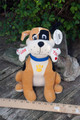 Dog with Bone Large Plush Toy