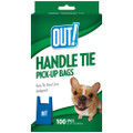 Simply OUT! Waste Pick-Up Handle Tie Bags 100CT