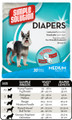 Simple Solution Disposable Diapers (Medium, 30 pack)