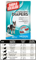 Fashion Disposable Diapers (Medium, 12 pack)