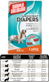 Fashion Disposable Diapers (Large, 12 pack)