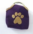"""Peace"" Tags -- Pet ID Tag Covers -- Purple"