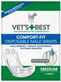 Comfort-Fit Disposable Male Wrap MED (12 Pack)