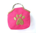 """Peace"" Tags -- Pet ID Tag Covers -- Pink"