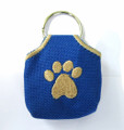 """Peace"" Tags -- Pet ID Tag Covers -- Blue"