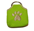 """Peace"" Tags -- Pet ID Tag Covers -- Lime Green"