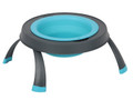 Single Elevated Pet Bowl - Small Blue