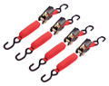 4-Pc. 15-ft. X 1-inch Ratcheting Tie Down Set