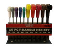 10-Pc. T-Handled SAE Hex Key Set, Color-Coded