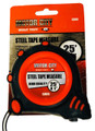 "25' x 1"" Steel Tape Measure, SAE markings"