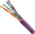 Category-5E, 24AWG, UTP, 8C Solid Bare Copper, 350MHz, Riser Rated, PVC Jacket, Purple, 1000ft. Pull Box