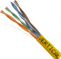 Category-5E, 24AWG, UTP, 8C Solid Bare Copper, 350MHz, Riser Rated, PVC Jacket, Yellow, 1000ft. Pull Box