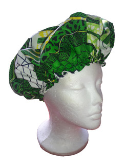 Cotton sleep cap with a African print