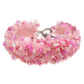 Cotton Candy - Beaded Cuff Bracelet