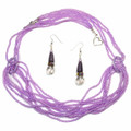 Purple Link - Beaded Necklace Set