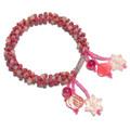 Embellished Peony Pink - Beaded Bracelet