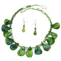 Green Shell - Beaded Necklace Set