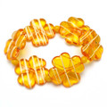 Orange Drizzle - Stretch Cuff Bracelet