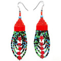 Red Multi Star - Beaded Earrings