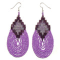 Purple Waterfall - Beaded Earrings