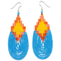 Tribal Waterfall - Beaded Earrings