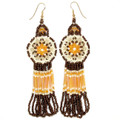 Bronze Medallion - Beaded Earrings