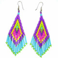Rainbow Bright - Beaded Earrings