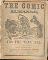 1872 COMIC ALMANAC  HUMOUR DIME NOVEL COMIC BOOK