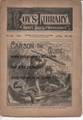 1887 BEADLES BOY'S LIBRARY OF SPORT, STORY & ADVENTURE # 143  CARSON THE GUIDE DIME NOVEL