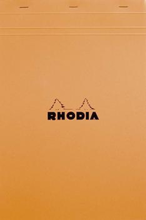 #18200 Rhodia Classic Notepads Top Staplebound 8 ¼ x 11 ¾ Graph Orange 80 sheets