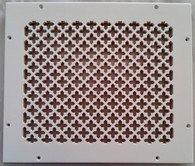Caspian Grille 12x10 opening 14x12 overall size. White finish