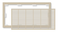 FLAT FRAME LINEAR LAZYVENT RETURN FILTER GRILLE