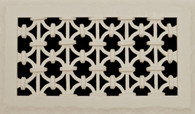 """Iron RIng Grille. Paint grade. Shown in 12"""" x 6"""""""
