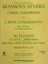 2nd Oboe and English Horn, 48 Famous Studies for Oboe or Saxophone by W. Ferling