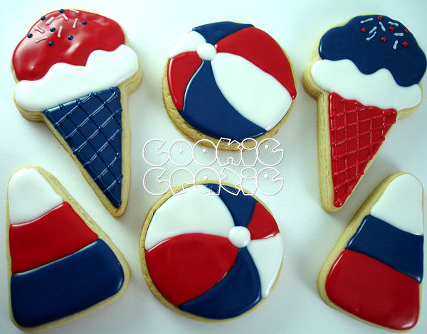 Decorated cookies by cookiecrazie (ice cream and candy corn)