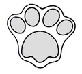 4700C CAT PAW LG cookie cutter