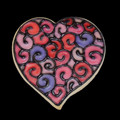1400C FOLKSY HEART A MED cookie cutter