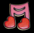 1400A LOVE NOTES SM cookie cutter